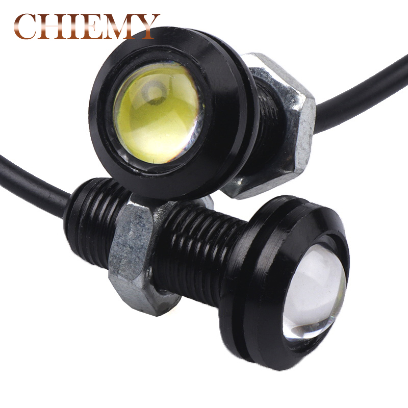 Car Lights 2pcs 18mm Eagle Eye Led Car Drl Daytime Running Lights Automobile Reverse Parking Singal Lamps Car-styling Auto Accessories