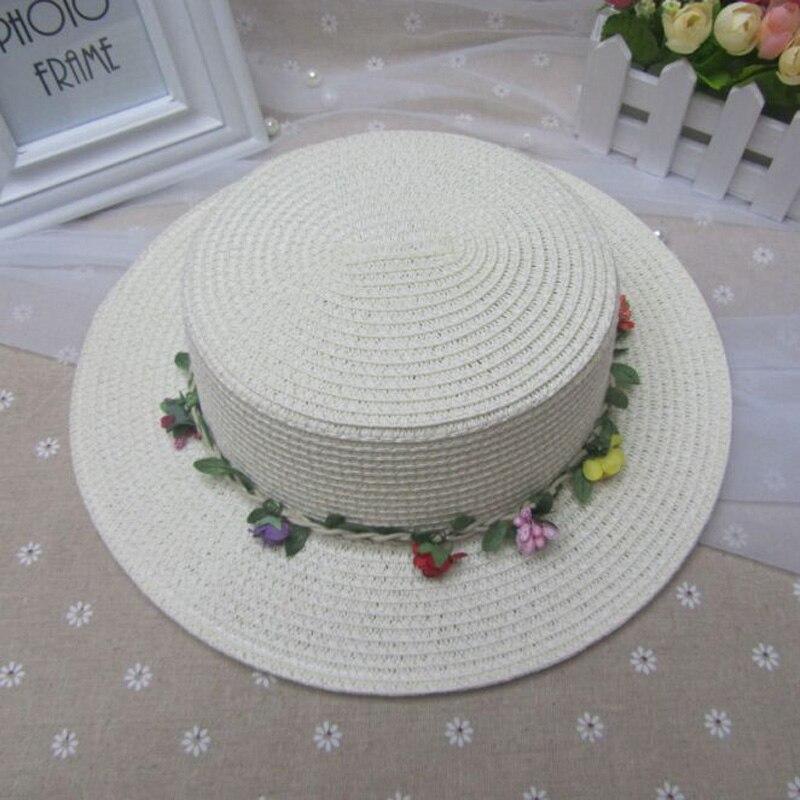 ᗗTapas de verano para chica de moda color puro sombreros para niños ...