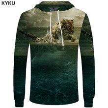 494ef1db3a66 KYKU Marke Tiger Hoodies Männer Wasser Sweatshirts Wolke Sweatshirt Tier  Tasche Hoddie Big Size 3d Hoodies Coole Lustige Drucken