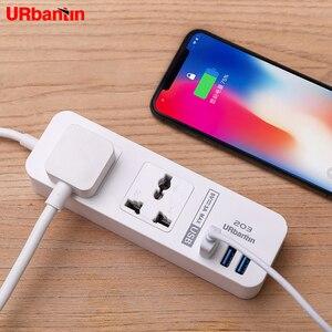 Image 3 - Oryginalne gniazda Urbantin 2AC 3 wyjścia USB uniwersalna moc taśmy kolor inteligentne szybkie ładowanie usb w stanie z ue AU UK adapter amerykański