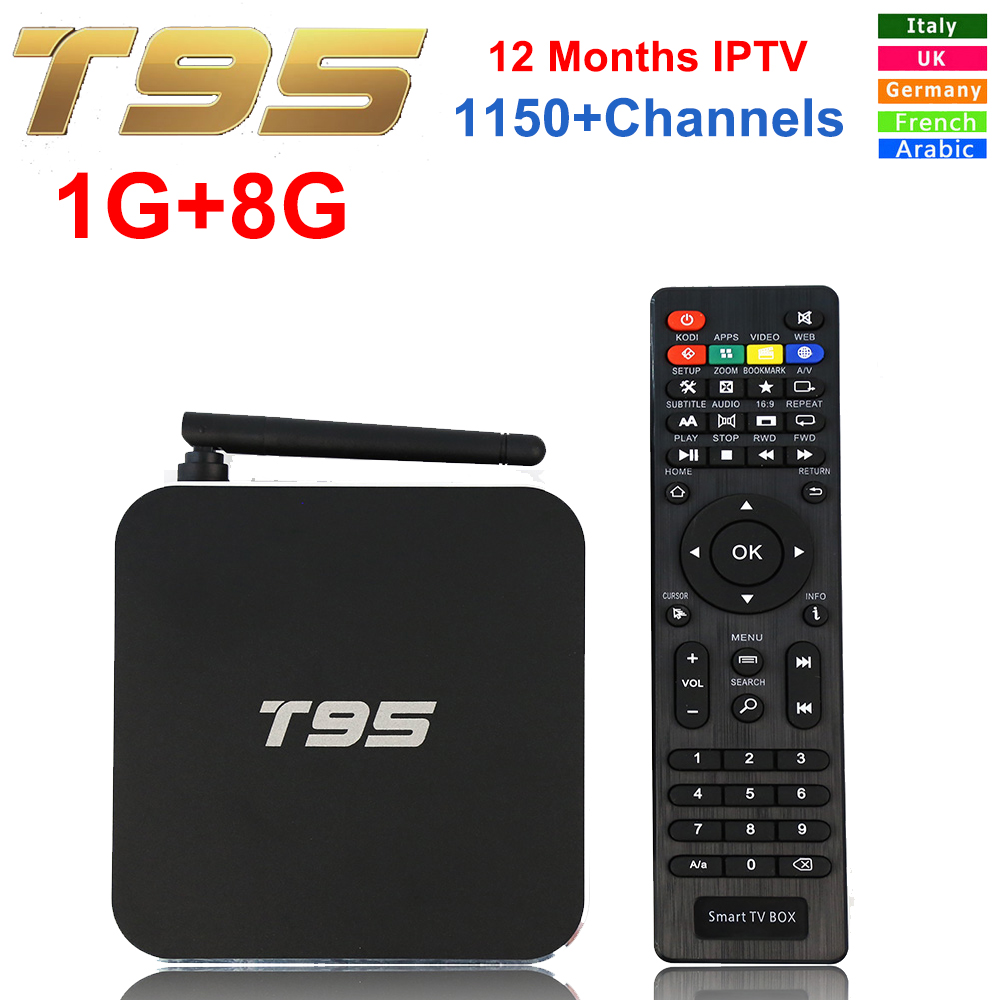 Original T95 Android TV BOX Amlogic S905 Quad Core 1GB/8GB Smart Set top Box WiFi UHD 4K 2K HDMI 2.0 Android 5.1 Media Player amlogic s805 quad core ott tv box 4k media player amlogic tv box kitkat 4 4 kodi android tv box 1gb 8gb set top box