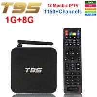 Original T95 Android TV BOX Amlogic S905 Quad Core 1GB 8GB Smart Set Top Box WiFi