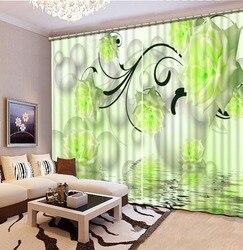 3D nowoczesne zasłony dostosować 3d zasłony do salonu zdjęcie sztuki kwiat Blackout sypialni zasłony Home Decoration