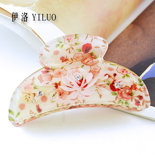 Women Hair Accessories 2017 Vintage Floral Hair Claw Rhinestone Hair CLips For Girls women headwear 2017 retro hair claw cute hair clip for girls show room vitnage hair accessories for women