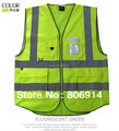 Free shipping 100pcs/lot top quality high visibility multi-pocket adult reflective safety vest reflect traffic vest fising vest