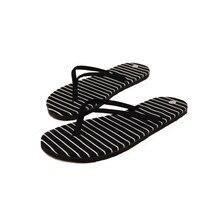 Ульрика 2017 Новый 1 Пара Черная Полоса Плоские Тапочки Летние Пляжные Тапочки Массаж Тапочки классический Дизайн Тапочки для Женщин