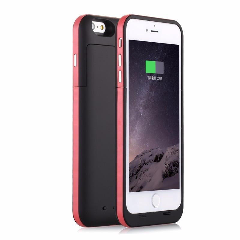 imágenes para 3800 mah para el cargador de iphone 6s caso elegante de la cubierta móvil de copia de seguridad para iphone 6 4.7 caso del cargador de batería para iphone 6s