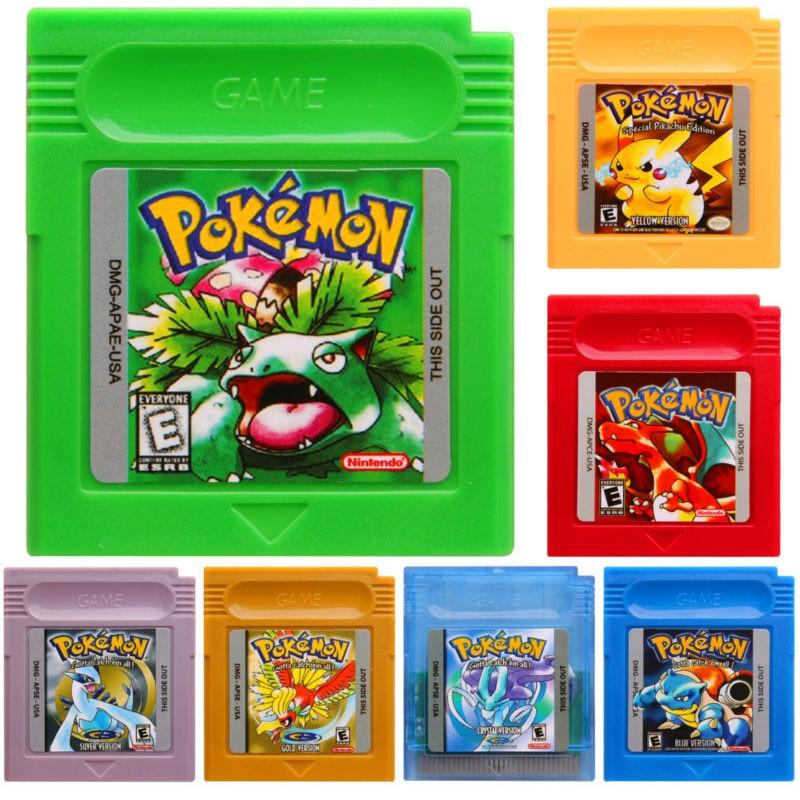 Nintendo GBC Pokemon Video Game Cartridge Console Card English Language Version for Game Boy Color Pokemon Go rpg game cartridge final fantasy iv 4 usa version save file english language with real metal screws