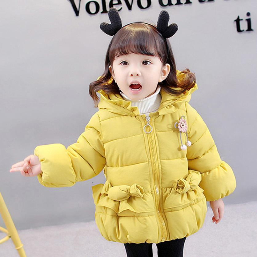 Baby Toddler Girls Autumn Winter Hooded Coat Cloak Jacket Thick Warm Clothes NO2