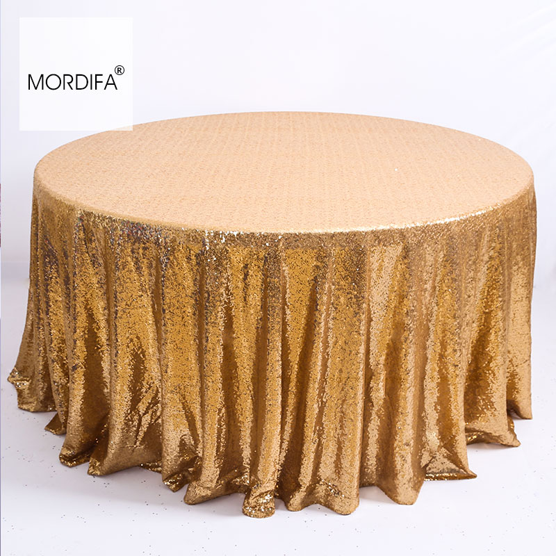 New Years Tablecloths Decoration Sequin Table Cloth Wedding For Kitchen Golden Round Tablecloth Christmas Tablecloth For Table