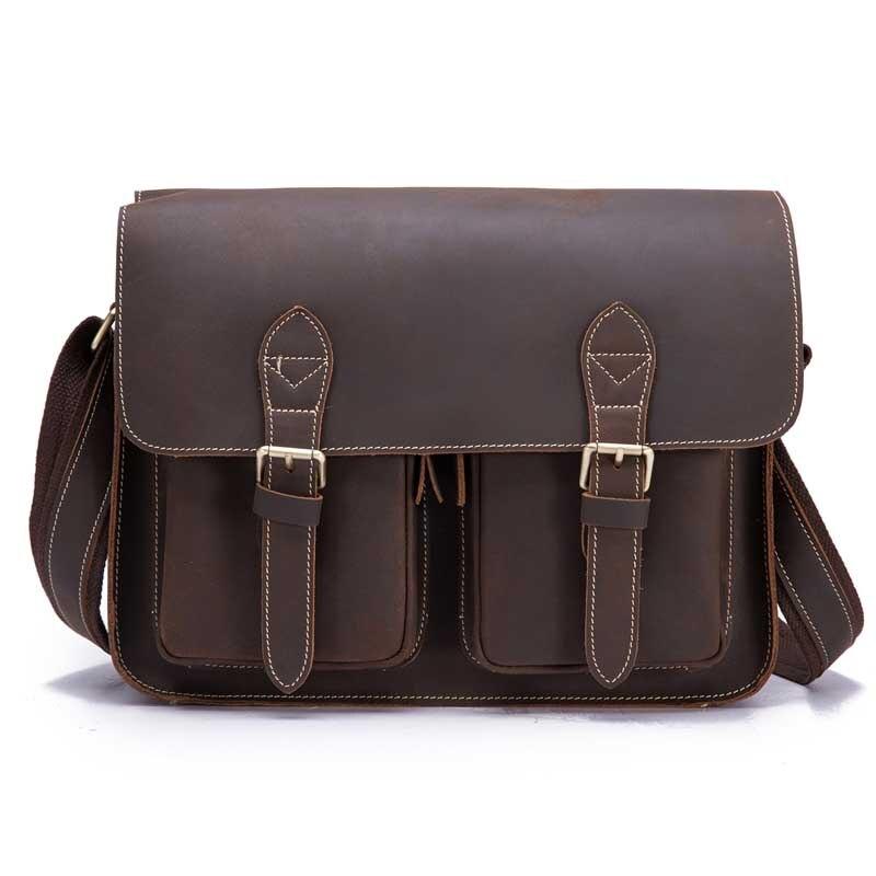 Men Messenger Bags Business Retro Cowhide Leather Flap Shoulder Bag Bolsas Casual Male Cross Body Bag Fashion Travel Bag 1206 цена