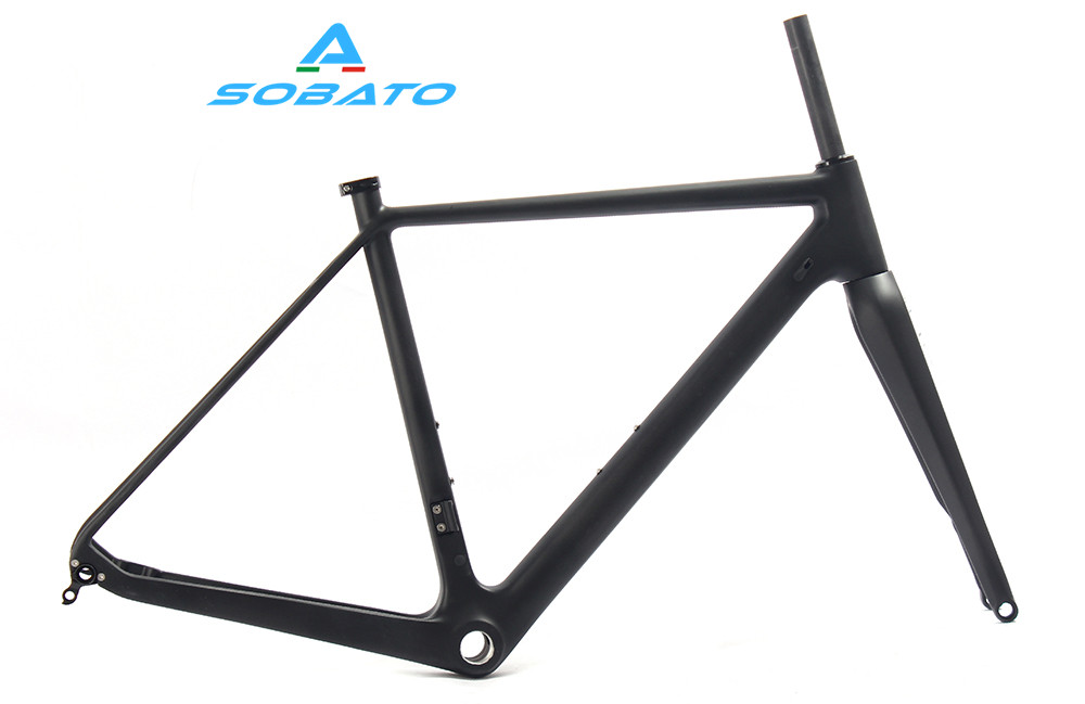 Carbon frame cyclocross Vbrake bicycl frame& fork bike CX OEM ODM carbon cyclocross frame made in china