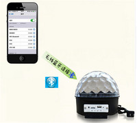 Bluetooth Magic Ball Light KTV Laser Light 9 Colors 27W Crystal Magic Ball Led Stage Lamp