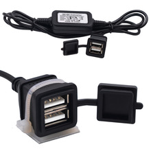 IZTOSS Evrensel 12-24 V Için 3A Su Geçirmez Araba Motosiklet Şarj Çift usb sigara çakmağı Cep tablet telefon GPS Aksesuarları