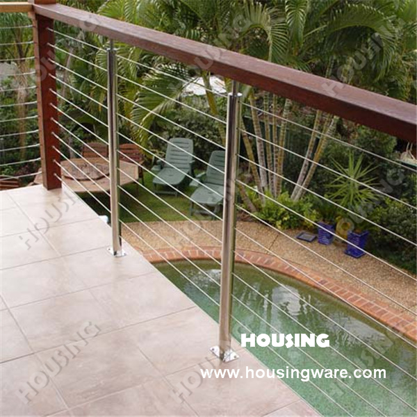 High quality deck wire railing outdoor wire railing wire for Garden decking for sale