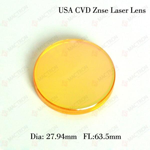 27.94mm Dia. 63.5 میلی متر لنز لیزر FL2 با فوکوس لیزری CO2