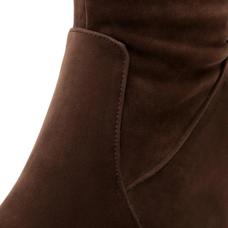Doux Mode 8 Le Bottes De Chaussures Genou Sur Parti En Pour Au 2019 Haute Hiver Neige Chaud marron Super Femmes Cm Noir 5 Talon Garder wvEqCxZt