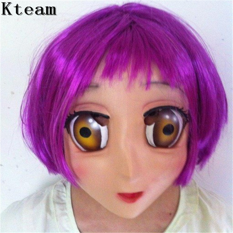gl083 Novelty & Special Use Costumes & Accessories Sweet Girl Resin Half Head Bjd Kigurumi Mask With Eyes Cosplay Anime Role Lolita Mask Crossdress Doll Without Return