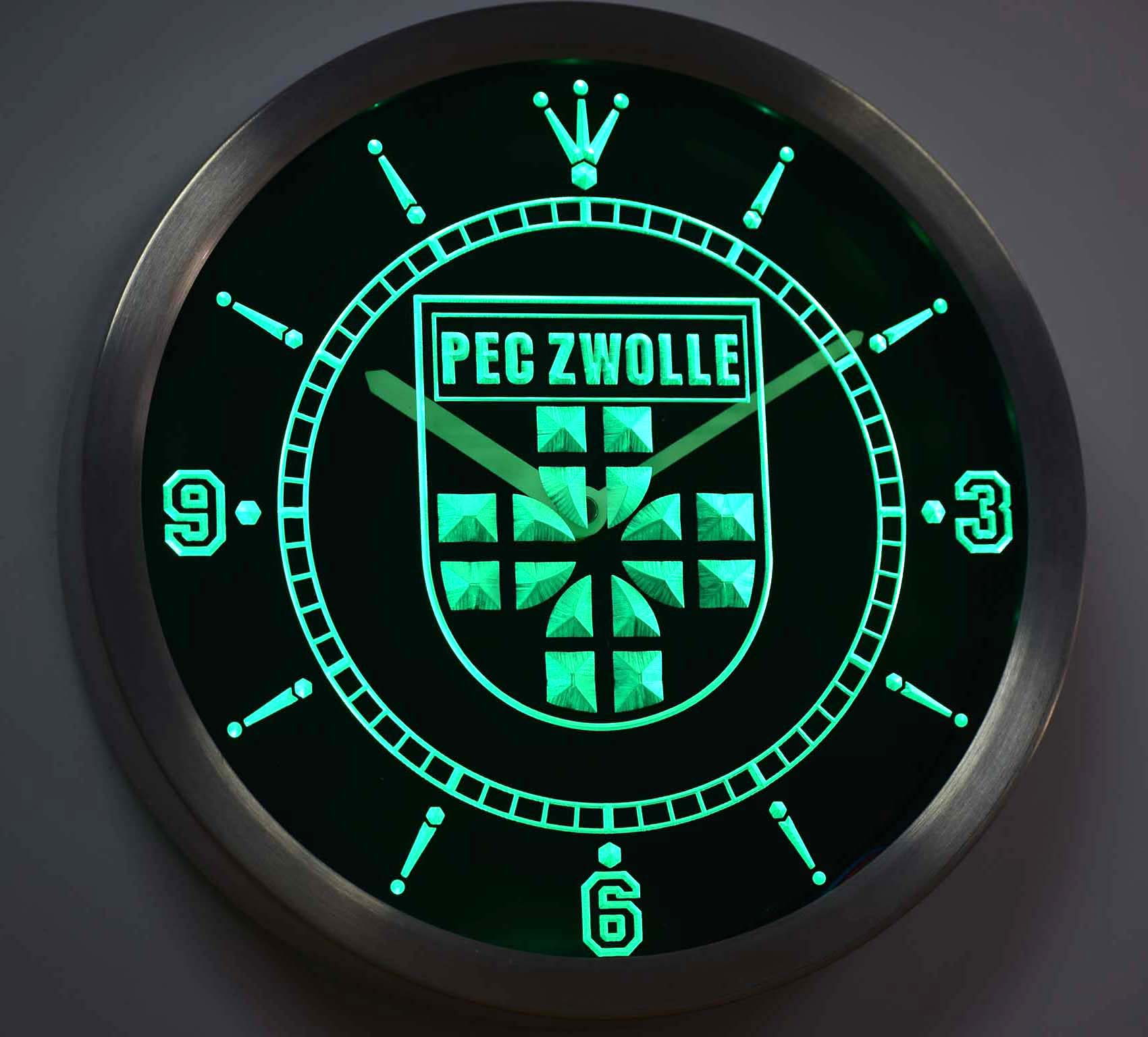 nc1015 PEC Zwolle Eredivisie Football Neon Light Signs LED Wall Clock