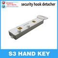 Hybon s3 handkey eas destacador chave de segurança handkey display s3 magnético destacador gancho chave lockpicker detacher aranha envoltório cabide