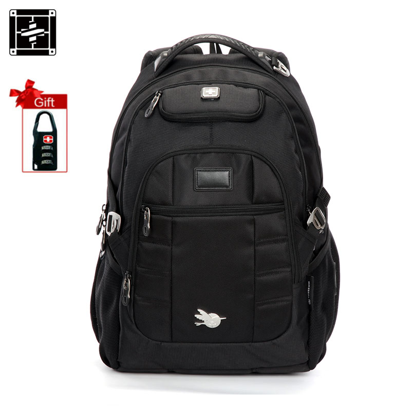 SUISSEWIN Men Fashion Backpack Swisswin Wenger Waterproof Laptop Backpack High Quality Nylon School Bagpack Back Pack Sac a dos