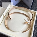 2pcs Fashion Couple bangle Jewelry Brand Lovers DW Bangle Bracelet Gold Plated Classic Cuff Accessories Adjustable size