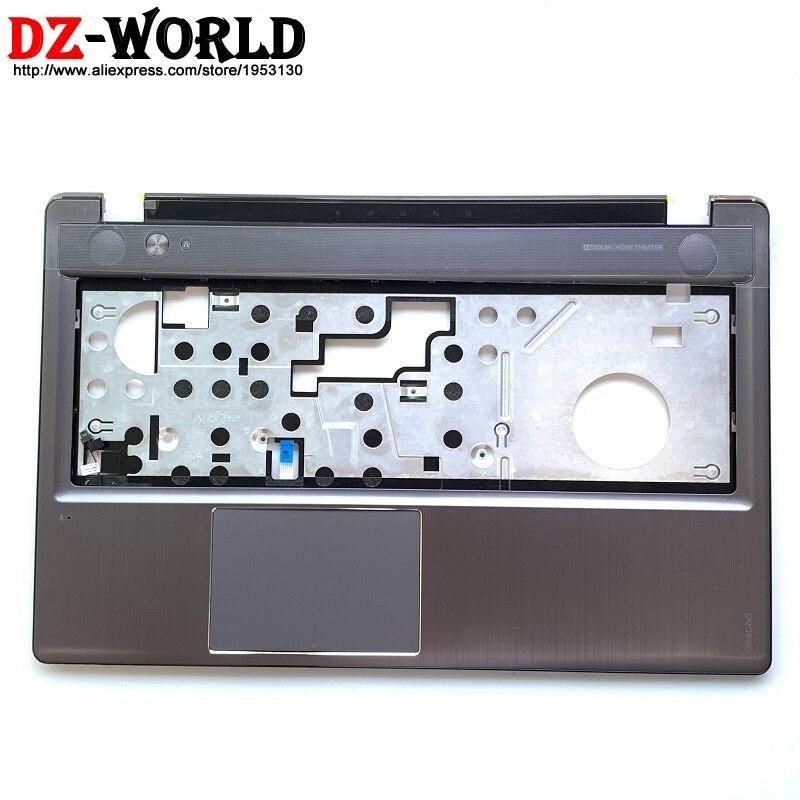 Nouveau clavier panneau lunette Palmrest couverture boîtier supérieur gris pour Lenovo Ideapad Z580 Z585 avec pavé tactile 90200640 3KLZ3TALV00