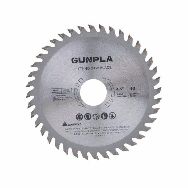 Lame de scie circulaire pour le bois dur et doux, en acier allié, lame de scie circulaire pour le bois dur et doux, 4 115 pouces, 3 pièces, 1/2x22*40T