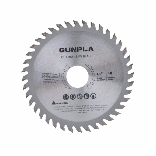 New 3PCS 115 *22* 40T Alloy Steel TCT Woodworking Saw Blade Cutting for Hard and Soft Wood 4 1/2 inch Metal Circular Saw Blade