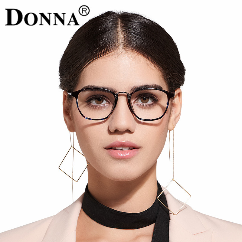 Donna Klassische Retro Klare Linse Nerd TR90 Rahmen Gläser Mode ...