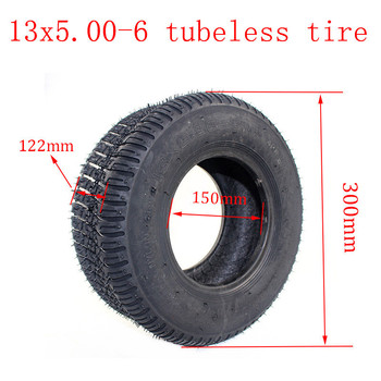 High quality  Electric scooter 13 inch Road tire 13x5.00-6 tubeless tyre 13*5.00-6 tuibeless tire