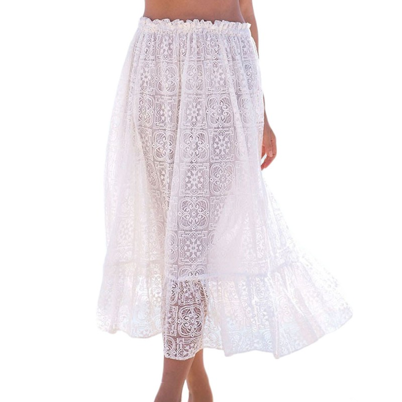 White Long Sheer Skirt Promotion-Shop for Promotional White Long ...