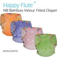 Newborn Bamboo Velour Fitted Diaper Natural Bamboo Fitted Diaper AI2 NB Bamboo Diaper Fit Baby From