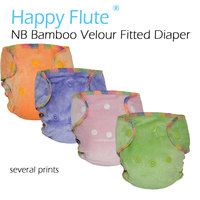 Newborn Bamboo Velour Fitted Diaper Natural Bamboo Fitted Diaper AI2 NB Bamboo Diaper Fit Baby From