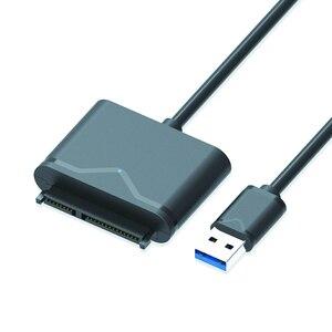 """Image 1 - USB 3.0 SATA كابل ل 2.5 """"و 3.5"""" الخارجية SSD HDD القرص الصلب محول مع سلك الطاقة (الولايات المتحدة التوصيل)"""