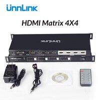 Unnlink HDMI матрица 4x4 4 k @ 30 Гц 1080 @ 60 Гц переключатель разветвитель 4 вход 4 Выход Матрица с RS232 ИК пульт дистанционного управления для HDTV box ps4