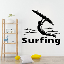 Fashion surfing Sticker Waterproof Vinyl Wallpaper For Kids Room Wall Decals Mural Bedroom