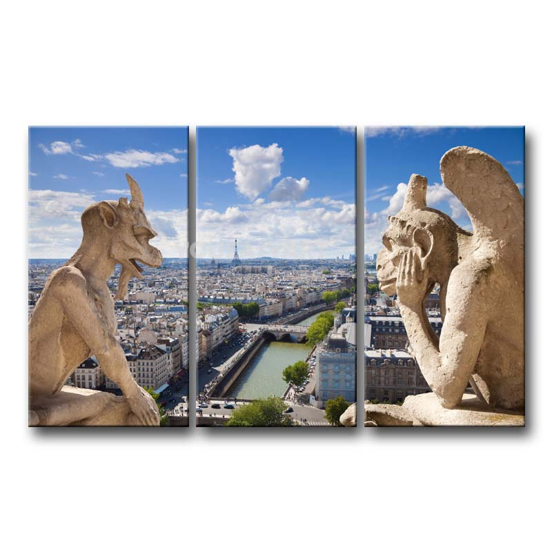 Aliexpress Com Buy 3 Pieces Wall Art New York City: 3 Piece Painting On Canvas Wall Art Scene City View