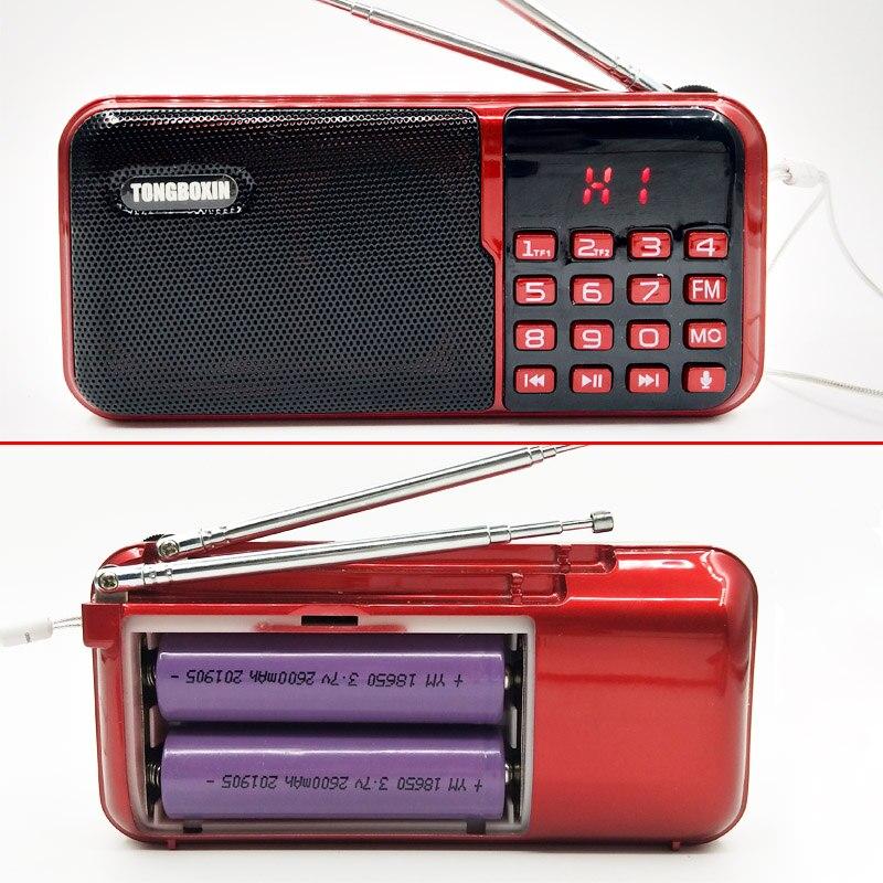 C-818 Med 2 TF-kortplats 2 FM-antenn 2 18650 Batteriplats FM-radio Högtalare USB-spelare 3,5 mm hörlursuttag