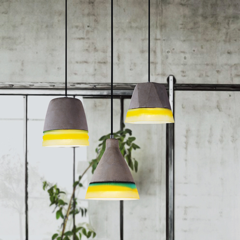 Industrial Retro Cement Pendant Personality Creative Lighting Loft Designer Pendant Lamp Bar Restaurant Lamps A181 loft retro pendant lamp creative iron pipes pendant lights industrial style pendant light for bar restaurant indoor art lighting