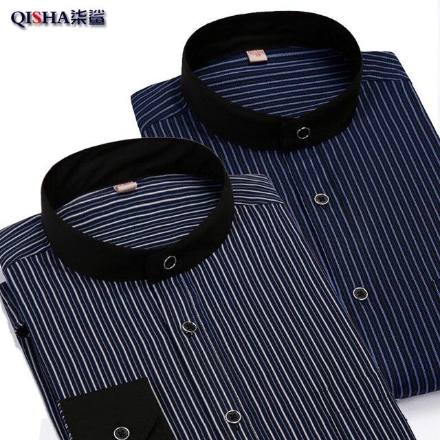 Brand Clothing 2016 New Men shirt stripe business slim fit long sleeve shirt Lapel Leisure Long Sleeve Camisa Masculina