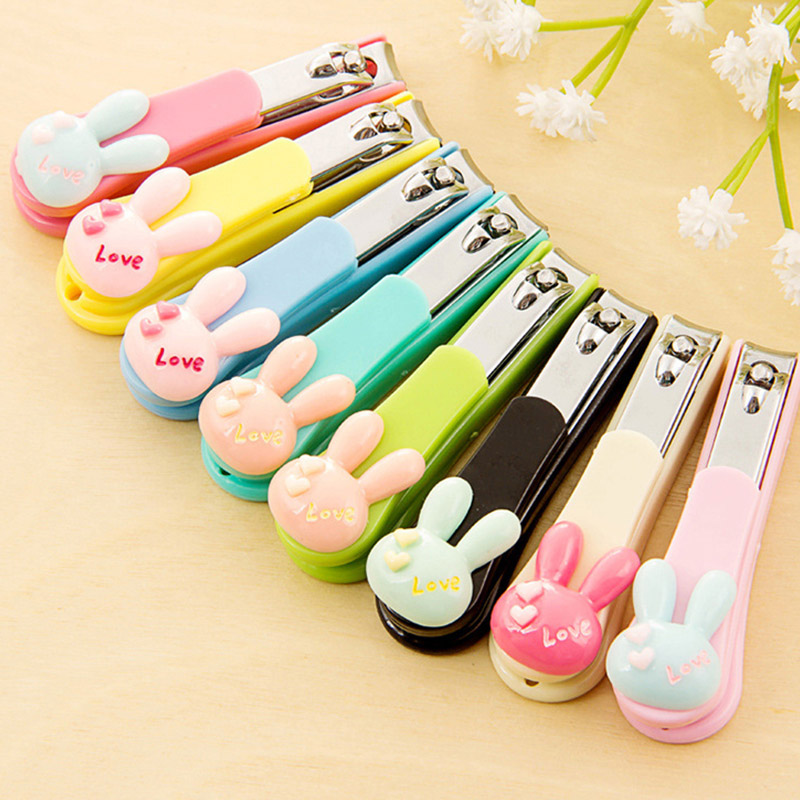 Baby Nail Care Infant Nail Clippers Baby Finger Trimmer Scissors Kids Children Adults Healthcare Cartoon Rabbit Nail Care Tools