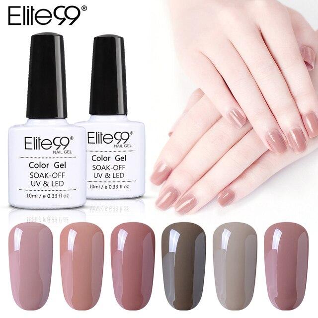 Elite99 10 ml Nagel Gel Polnisch UV LED Nude Farben Nail art Design Basis Top Mantel Nagel Gel Lang Anhaltende schönheit Werkzeug