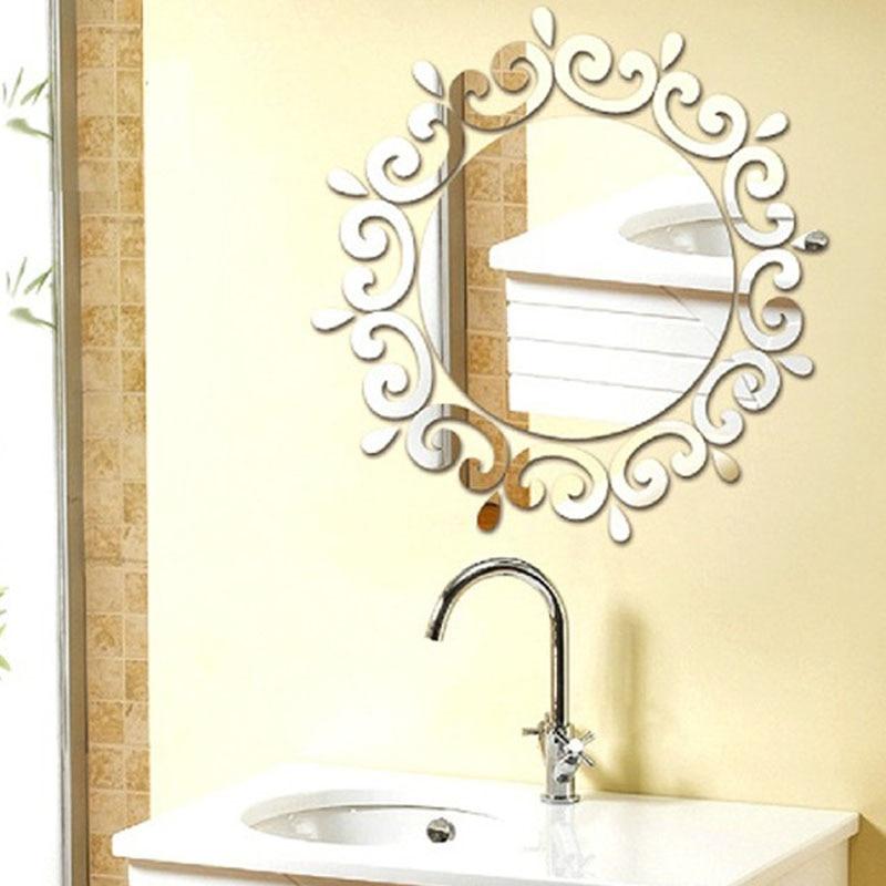 25pcs/set acrylic mirror sun shape wall sticker home decor mural