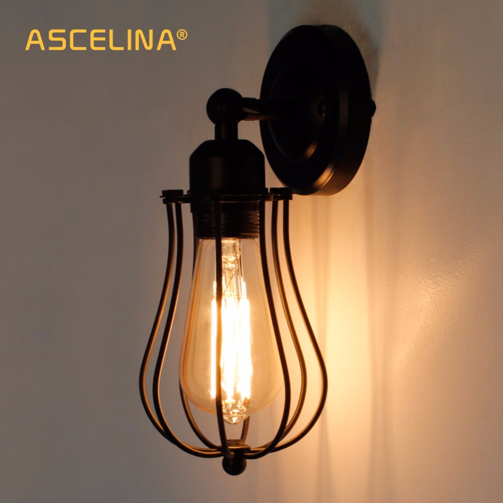 Wall Lamps Industrial wall light Vintage Wall Lamp Adjustable wall light  fixture Loft American country sconce indoor lamps