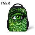 FORUDESIGNS New Fashion 3D Unique Eye Boys Small Backpack Children School Bag  Kids Spring Travel Protable Bag