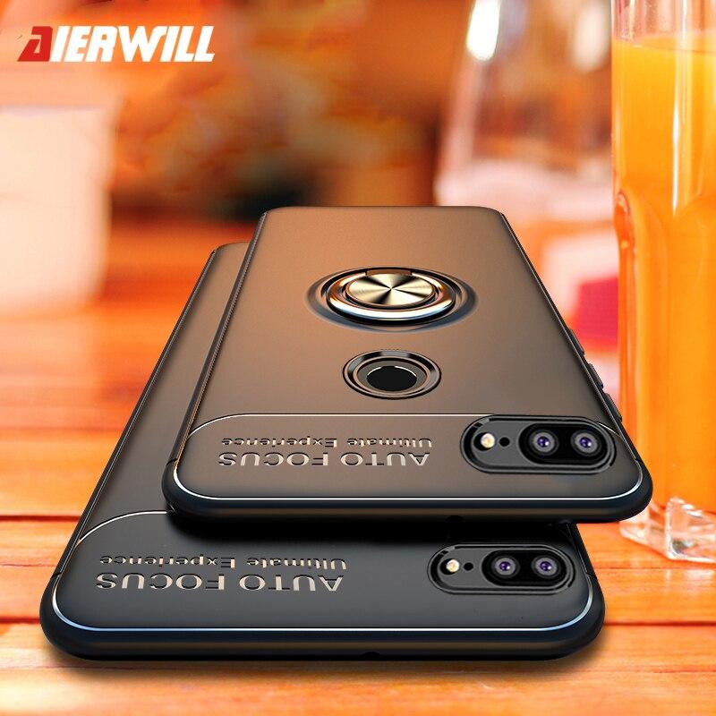 Shockproof Case For Huawei Honor 9 Lite Case Magnetic Rotating Finger Ring Plastic Back Case Cover Innrech Market.com