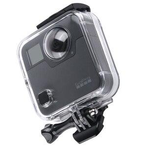 Image 2 - 40 M مثبت مضاد للماء حالة الباب الخلفي ل Gopro الانصهار 360 كاميرا تحت الماء مربع ل الذهاب برو الانصهار عمل كاميرا الملحقات
