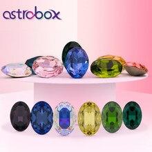 K9 Oval Glass Rhinestones Decoration Charms Crystal Application Point Back Fancy Gemstone for Earing Dress Garment