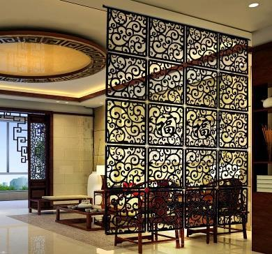 6pieces a lotRestaurant retro hollow carved wood decorative curtain